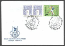 1998 Hungary Football Soccer FIFA World Cup France Brasil Player Hungarian Olympic CONGRESS Postmark Registered Letter - 1998 – Frankreich