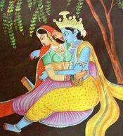 INDIA Oriental Eroticism Couple Naked Woman INDE Couple érotisme Oriental Femme Nue - Paintings