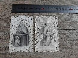 Lot 2 Images Religieuses Anciennes Canivet Sainte Marie Ange - Andachtsbilder