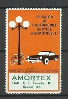 FRANCE 1964 Vignette Poster Stamp AMORTEX Automobile Cycle Motocycle EXPO Foire * - Erinnophilie