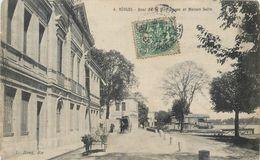 CPA 33 Gironde BEGLES Quai De La Moulinasse Et Maison Salin Attelage Ane - Autres Communes