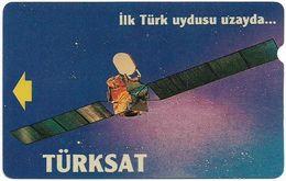 Turkey - TT - Alcatel - R Advert. Series - Turksat Satellite, R-055, (Backside PTT), 60U, 1995, Used - Turquie