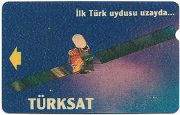 Turkey - TT - Alcatel - R Advert. Series - Turksat Satellite, R-056, (Backside PTT), 100U, 1995, Used - Turquie
