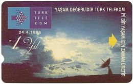 Turkey - TT - Alcatel - R Advert. Series - 1st Anniv. Of TT (Without SC Logo On Front Left), R-086, 30U, 1996, Used - Turquie