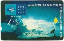 Turkey - TT - Alcatel - R Advert. Series - 1st Anniv. Of TT (Without SC Logo On Front Left), R-087, 60U, 1996, Used - Turquie