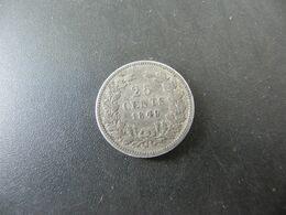 Niederlande 25 Cents 1849 Silver - [ 3] 1815-… : Royaume Des Pays-Bas
