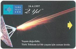 Turkey - TT - Alcatel - R Advert. Series - 2nd Annv. Of TT, Antenna, R-104A, (Check Notch!), 30U, 1997, Used - Turquie