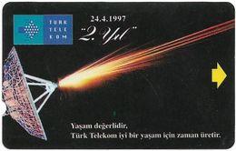 Turkey - TT - Alcatel - R Advert. Series - 2nd Annv. Of TT, Antenna, R-106, (Check Notch!), 100U, 1997, Used - Turquie