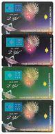 Turkey - TT - Alcatel - R Advert. Series - 2nd Annv. Of TT, Fireworks, R-101 (4 DIFF. REVERSE VARIANTS, 30U, 1997, Used - Turquie
