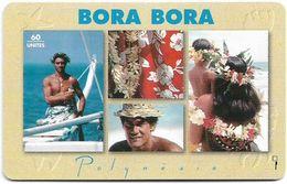 French Polynesia - OPT - Bora Bora - Gem1B Not Symm. Red, 01.1995, 60Units, 50.000ex, Used - Polynésie Française