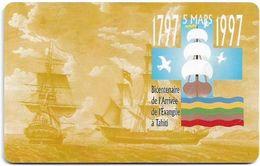 French Polynesia - OPT - Bicentenaire De L'Arrivée #2 - Gem1A Symmetr. Black, 03.1997, 30Units, 30.000ex, Used - Polynésie Française