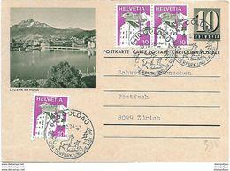 """15 - 52 - Entier Postal Avec Illustration """"Luzern"""" Cachets Illustrés Goldau 1978 - Interi Postali"""