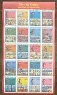 Planche Vignettes FETE DU TIMBRE / GASTON - 2001 - Erinnophilie
