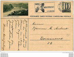 """15-61 - Entier Postal Postal Suisse Avec Superbe Oblit Mécanique """"WM Handball 1952"""" - Entiers Postaux"""