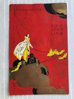 RED STAR LINE: Entertainment Programme Ss Belgenland World Cruise 1925 - Menükarten