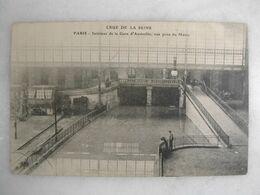 FERROVIAIRE - Gare - PARIS - Crue De La Seine - Intérieur De La Gare D'Austerlitz - Vue Prise Du Métro (animée) - Estaciones Sin Trenes