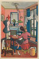 COUTURIERE - 1943 - AU PROFIT De L' ENTRAIDE FRANCAISE - ILLUSTRATEUR Rémy HETREAU - édit GRAND LUXE LIMITEE - Artisanat