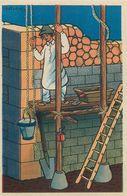 Maçon - METIER- 1943 - AU PROFIT ENTRAIDE FRANCAISE - ILLUSTRATEUR Rémy HETREAU - édit GRAND LUXE LIMITEE - Artisanat