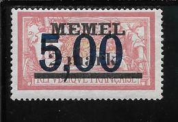 MEMEL N°44 ** TB SANS DEFAUTS - Memel (1920-1924)