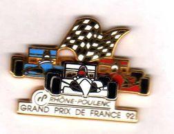 Pin's Formule 1 Gd Prix De France  92 Rhone Poulenc Zamac  Arthus Bertrand - Arthus Bertrand
