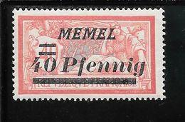 MEMEL N°53 ** TB SANS DEFAUTS - Memel (1920-1924)