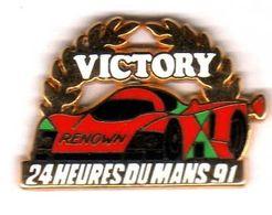 Pin's 24 Heures Du Mans 91  Victory Zamac  Arthus Bertrand - Arthus Bertrand