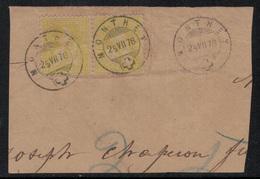 Suisse // Schweiz // Switzerland // Helvétie Assise // Helvétie Assise 1 Paire No. 39 Oblitéré Monthey 25.07.1878 - Gebraucht