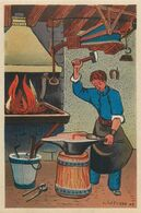 FORGERON - METIER- 1943 - AU PROFIT ENTRAIDE FRANCAISE - ILLUSTRATEUR Rémy HETREAU - édit GRAND LUXE LIMITEE - Artisanat