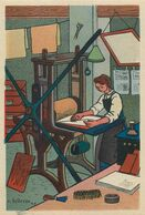 GRAVEUR - IMPRIMERIE - METIER- 1943 - AU PROFIT ENTRAIDE FRANCAISE - ILLUSTRATEUR Rémy HETREAU - édit GRAND LUXE LIMITEE - Artisanat