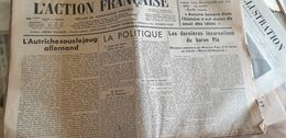 ACTION FRANCAISE/LEON DAUDET/MAURICE PUJO /MAURRAS/DARQUIER PELLEPOIX ANTIJUIVE/POULENC REBATET - Giornali