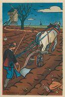LABOUREUR - AGRICULTEUR - 1943 - AU PROFIT ENTRAIDE FRANCAISE - ILLUSTRATEUR Rémy HETREAU - édit GRAND LUXE LIMITEE - Paysans