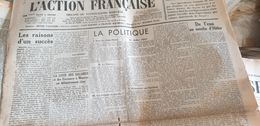 ACTION FRANCAISE/LEON DAUDET/DELEBECQUE /ESPAGNE GUERRE TERUEL /OCCUPATION ANTIJUIVE - Giornali