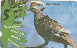 Turkey, N-171,  June 5th 2001 - World Environment Day, Crested Lark, Bird, 2 Scans. - Turquie