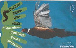 Turkey, N-175,  World Environment Day, Ring-necked, Bird, 2 Scans. - Turquie
