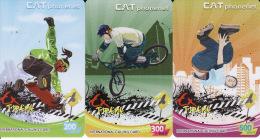 Thailand  Phonecard Cat Phonenet Nr. 5613 - 5615  Extrem Sport - Thaïlande