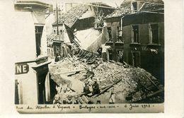 Guerre 14-18 Bombardements Boulogne/Mer Rue Du Moulin à Vapeur Carte Photo RRR - Boulogne Sur Mer