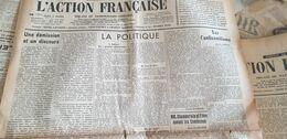 ACTION FRANCAISE/LEON DAUDET /MAURRAS/ESPAGNE GUERRE TERUEL /ANTISEMITISME LARPENT / GAGOULE / - Giornali