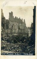 Guerre 14-18 Bombardements Boulogne/Mer Hôtel Dervaux Grande Rue 1er Août 1918 Carte Photo RRR - Boulogne Sur Mer