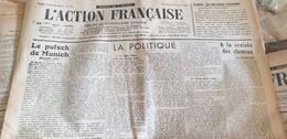 ACTION FRANCAISE/MUNICH DAUDET /MAURRAS /DELEBECQUE /ESPAGNE GUERRE TERUEL /PICOT DE PLEDRAN / - Giornali