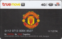 Thailand Phonecard True Membercard Giftcard Manchester United - Thaïlande