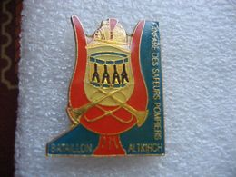 Pin's De La Fanfare Des Sapeurs Pompiers Du Bataillon De La Ville D'ALTKIRCH (Dépt 68) - Pompiers