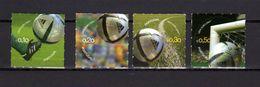 Portugal 2004 Football Soccer European Championship Set Of 4 MNH - Fußball-Europameisterschaft (UEFA)