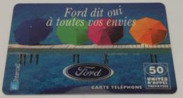 Télécarte - FORD - Cars