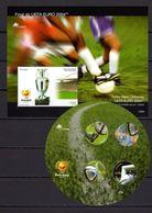 Portugal 2004 Football Soccer European Championship 2 S/s MNH - Fußball-Europameisterschaft (UEFA)