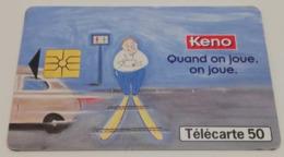 Télécarte - LA FRANCAISE DES JEUX - KENO - Jeux