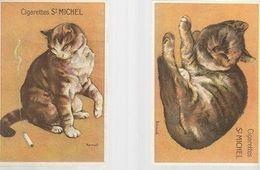 0808/ N/       CIGARETTES ST MICHEL   2X  DES CHATS - Illustrators & Photographers
