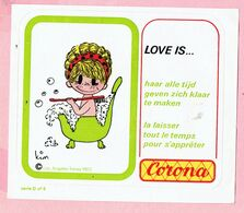 Sticker - LOVE IS...- CORONA - Autocollants