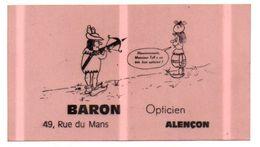 Autocollant Baron Opticien Alençon- Format 12x6.5cm - Non Classés