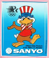Sticker - SANYO - Official Video Products Of The 1984 L.A. Olympics - Autocollants