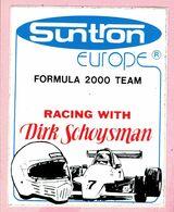 Sticker - Suntron Europe - FORMULA 2000 TEAM - RACING WITH - Dirk Schoysman - Autocollants